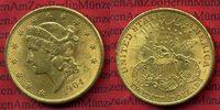 USA 20 Dollars Goldmünze Double Eagle USA 20 Dollars Liberty, Frauenkopf, 1904 Gold vz Double Eagle