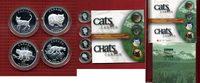 Satz 4 x 50 Cents Silber 1999 Kanada Katzen, Cats PP OVP Polierte Platt... 95,00 EUR69,00 EUR  excl. 8,50 EUR verzending