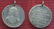 Reformation Personenmedaille Schweinfurt Silbermedaille mit Öse Tragbare Silbermedaille 300. Jahrestag der Reformation, Martin Luther