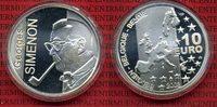 10 Euro Silbermünze 2003 Belgien Georges Simenon Polierte Platte*in Kap... 15,00 EUR  + 8,50 EUR frais d'envoi