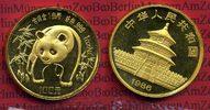 China 100 Yuan Panda, 1 Unze China 100 Yuan 1986 Gold Panda, 1 Unze Stempelglanz mit Kapsel Selten !