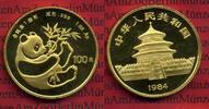 China 100 Yuan Panda, 1 Unze China 100 Yuan 1984 Gold Panda, 1 Unze Stempelglanz  Selten