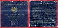 Bundesrepublik Deutschland, Germany FRG Satz 5 x 10 DM Silbermünzen Deutschland 5 Gedenkmünzen 10 DM Blister Albert Lortzing 1801-1851 A D F G J