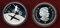 Kanada, Canada 1 Dollar Commemorative Silber Kanada 1 Dollar Silber 2009 Box OVP PP 100 Jahre Flug in Kanada