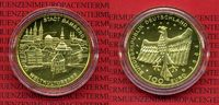 Deutschland BRD Germany FRG 100 Euro Goldmünze 1/2 Unze Deutschland BRD 100 Euro Gold 2004 D Weltkulturerbe Bamberg Stgl. OVP