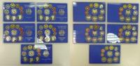 Bundesrepublik Deutschland, FRG Germany DM Kursmünzensatz komplett 5 Platten Bundesrepublik Deutschland DM Kursmünzensatz KMS 1995 Komplett A D F G J