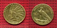 10 Dollars Indianerkopf Goldmünze 1910 D USA, United States of Amerika,... 695,00 EUR