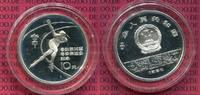 China Volksrepublik PRC 10 Yuan Silbermünze China 10 Yuan 1984 , Olympische Spiele Winter, Eisschnellauf