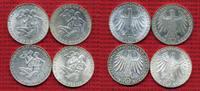 Bundesrepublik Deutschland 10 DM, D F G J, Satz BRD 10 DM 1972 D,F,G,J Olympische Spiele Sportler 4 Münzen