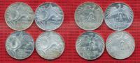 Bundesrepublik Deutschland 10 DM, D F G J, Satz BRD 10 DM 1972 D,F,G,J Olympische Spiele Sportstätten 4 Münzen