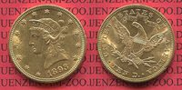 10 Dollars Gold Liberty  Eagle 1893 USA USA 10 Dollars Liberty, Frauenk... 640,00 EUR