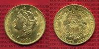 USA 20 Dollars Goldmünze Double Eagle USA 20 Dollars Liberty, Frauenkopf, Double Eagle 1904 Gold,