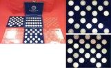 Bundesrepublik Deutschland FRG 72 x 5 DM Silberadler Komplett o. 1958 J Kursmünzen 1951 bis 1974, ohne 1958 J 72 Stück