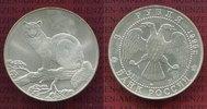 Russland, Russia 3 Rubel Silbermünze, 1 Unze Feingehalt Russland 3 Rubel 1995 Zobel Silber 1 Unze Feinsilbergehalt