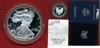 1 Dollar, 1 Unze Silber 2002 USA American Eagle Liberty PP Polierte Pla... 55,00 EUR  + 8,50 EUR frais d'envoi