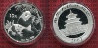 China Volksrepublik PRC 10 Yuan Panda 1 Unze Silber China Panda 10 Yuan 2007 1 Unze Silber Stempelglanz