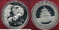 China Volksrepublik PRC 10 Yuan Panda 1 Unze Silber China Panda 10 Yuan 2004 1 Unze Silber