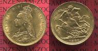Großbritannien, England, UK, Great Britain Sovereign Goldmünze England 1889 Sovereign Goldmünze Victoria Jubilee Typ