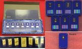 7 x 250 Kwacha, je 1 g Goldbarren 2010 Mal...