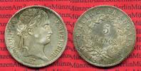 Frankreich 5 Francs Napoleon I. Frankreich 5 Francs 1811 A, Napoleon I. prfr. mit winz. Feilspur nicht gereinigt