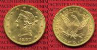 10 Dollars Gold,  Eagle Coronet Head 1897 USA USA 10 Dollars Liberty, F... 695,00 EUR