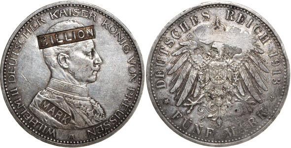 Deutschland,preussen 5 Mark 1913 Silber