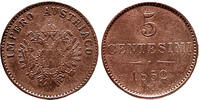 5 Centesimi 1852 Österreich,Lombardei  Winz.Randfehler,vz  65,00 EUR  zzgl. 5,00 EUR Versand