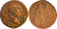 M.U.Traianus.As 101 n.Chr., Rom. Patina Fleck,sonst vorzüglich  95,00 EUR  zzgl. 5,00 EUR Versand