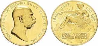 100 Kronen / 100 Corona 1908. ÖSTERREICH F...