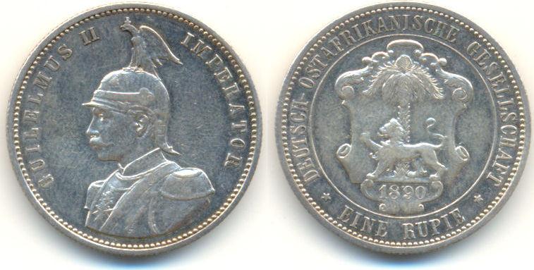 Deutsch Ostafrika: Rupie 1890