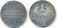 Frankfurt Stadt: Taler. Schillers 100. Geburtstag. 1859 vz-st  125,00 EUR  zzgl. 4,00 EUR Versand