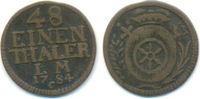 Erfurt Bistum: 1/48 Taler 1784 C ss Friedrich Karl Joseph, 1774-1802: 25,00 EUR  zzgl. 1,00 EUR Versand
