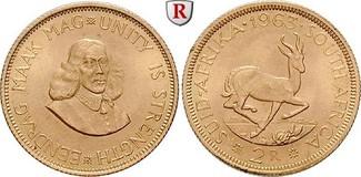 2 Rand 1961-1983 Südafrika Republik, seit ...