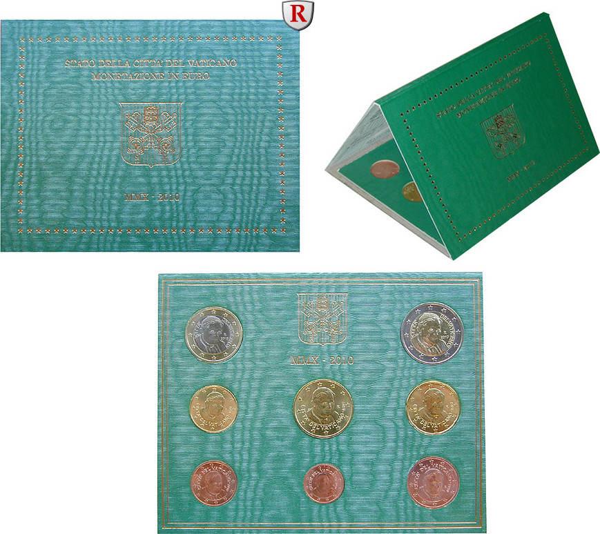 Euro-Kursmünzensatz 2010 Vatikan Benedikt XVI., 2005-2013 st