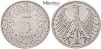 5 DM 1970 G Klein- und Kursmünzen 5 DM 1970, G. Adler. J.387. f.st  16,50 EUR