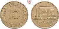 10 Franken 1954 Saarland 10 Franken 1954, Cu. J.801. ss-vz  5,50 EUR