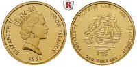 250 Dollars 1991 Cook Inseln Elizabeth II., seit 1952, Gold, 7,76 g PP,... 350,00 EUR  +  10,00 EUR shipping