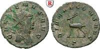 Antoninian 260-268  Gallienus, 253-268 vz, belegt, mit Resten von Silbe... 90,00 EUR