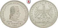 5 DM 1955 F Gedenkprägungen 5 DM 1955, F. Schiller. J.389. vz  355,00 EUR