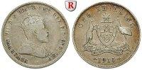 Shilling 1910 Australien Edward VII., 1901-1910 s-ss  15,00 EUR