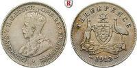 3 Pence 1912 Australien George V., 1910-1936 ss  15,00 EUR  +  10,00 EUR shipping