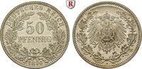 50 Pfennig 1896 A Klein- und Kursmünzen 50 Pfennig 1896, A. J.15. Prach... 420,00 EUR