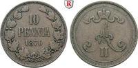 10 Penniä 1876 Finnland Unter russischer Herrschaft, Alexander II., 185... 30,00 EUR  +  10,00 EUR shipping