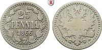 25 Penniä 1866 Finnland Unter russischer Herrschaft, Alexander II., 185... 40,00 EUR  +  10,00 EUR shipping
