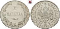 2 Markkaa 1874 Finnland Unter russischer Herrschaft, Alexander II., 185... 30,00 EUR  +  10,00 EUR shipping