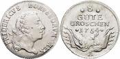 8 Gute Groschen 1754  A Brandenburg-Preuss...