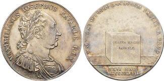 Konventionstaler 1818 Bayern Maximilian I....