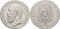 5 Mark 1876  G Baden Friedrich I. 1856-1907. Kl.Rf., fast sehr schön  45,00 EUR