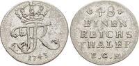 1/48 Taler 1743 Brandenburg-Preussen Friedrich II. 1740-1786, Münzstätt... 39,00 EUR  +  5,00 EUR shipping