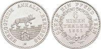 1/6 Taler 1861  A Anhalt-Bernburg Alexander Carl 1834-1863. Min.Kr., vo... 45,00 EUR  +  5,00 EUR shipping